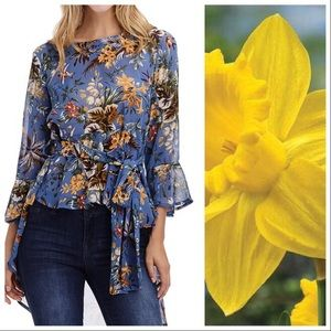 Tops - Birds and Flowers Breezy Layering Top